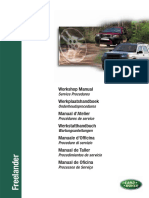 Freelander 1 MY01 on - Workshop Manual - Service Procedures (LRL0350ENG 4th Edition)