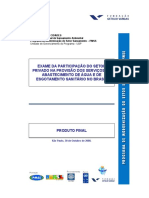 Relatório - setor privado no saneamento