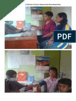 Pembagian Obat Filariasis Di Dusun Nanga Arong Desa Nanga Raun