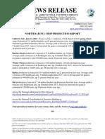 North Dakota Crop Production Report