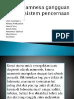 Anamnesa Gangguan Sistem Pencernaan