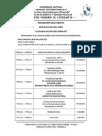 Programa de Presentación Del Libro