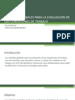 Métodos Globales Para La Evaluación de Las Condiciones de trabajo