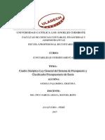 Cuadro Sinóptico Ley General Del Sistema de Presupuesto y Clasificador Presupuestario de Gasto