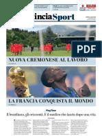 La Provincia Di Cremona 16-07-2018 - Sport