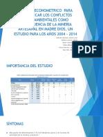MOD ECON  PARA CUANTIFICAR LOS CONFLICTOS por DE LA MINERIA ARTESANAL .pptx