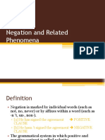 Negation and Related Phenomena