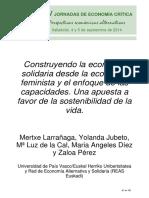 ECONOMÍA SOLIDARIA FEMINISTA Y ENFOQUE DE CAPACIDADES