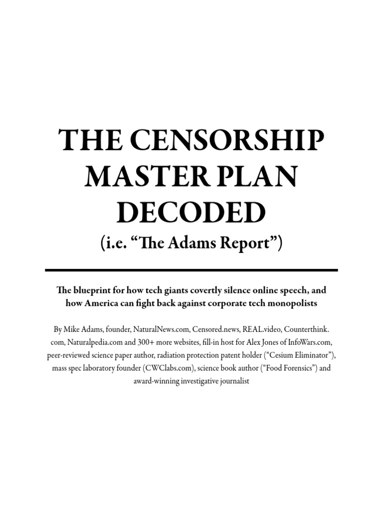 The censorship master plan decoded censorship news malvernweather Gallery
