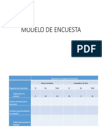 Modelo de Encuesta