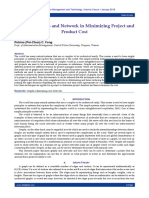 Impact of Graphs and Network in Minimizing Project and Product Cost