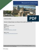 Seismic Bridge Design According to Eurocode 8 and SIA 160