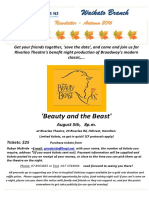 Waikato Branch AUTUMN Newsletter 2016