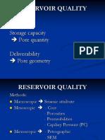 Reservoir Properties & Development Geology