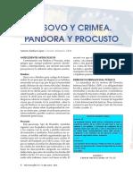 2017 Kosovo y Crimea. Pandora y Procusto