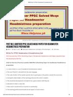 500 MCQs for PPSC Headmasters & Headmistress Test..1