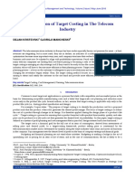 The Utilization of Target Costing in The Telecom Industry