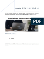 Liberty University PSYC 341 Week 8 Exam