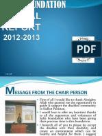 Safia Foundation Annual Report