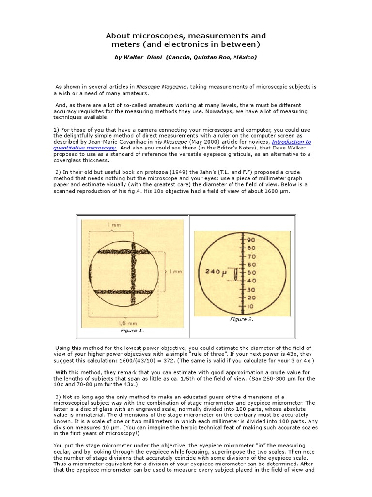About Microscopes n Measurements | Pixel | Image Resolution