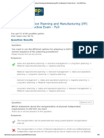 SAP ERP Production Planning and Manufacturing PP Certifications Practice Exam - Full 8