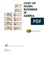 Cost of Doing Business in Zambia- 2013