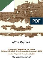 Mitul Pesterii - extras din 'Republica' lui Platon + manuscript original_0