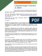 Analyse Der Zweistimmigen Invention Nr. 1 Von J. S. Bach