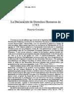 La declaración de los derechos humanos (1793)