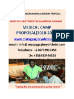 Glory of Christ Church Medical Mission Proposal