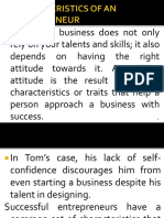 2 Characteristics of Entrepreneur