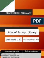 Observation Summary