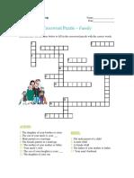 Crossword Puzzle - Family