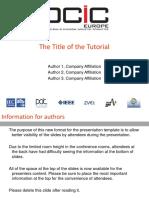Tutorial File Template