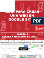 5. Guia Para Crear Una Wiki en Google Sites