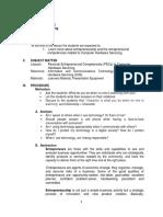 June 4 - Personal Entrepreneurial Competencies (PECs) in Computer Hardware Servicing