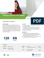 Master in Applied Data Science - Info Sheet 2018