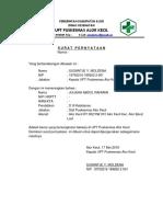 Surat Pernyataan Bekerja Instansi Terkait
