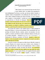 A Geografia Do Pensamento Do Pensamento de Roberto Machado Com Comentário