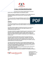 Nurse Call System Specification