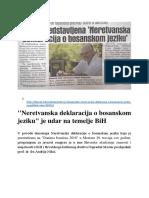 Knjiga_Neretvanska Deklaracija o Bosanskom Jeziku
