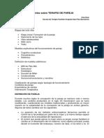 Apuntes Sobre Terapia de Pareja. F. Ruiz 2014
