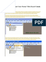 Cara Membuat User Form VBA Excel Untuk Pemula