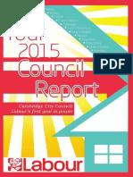 Cambridge Labour 2015 Residents' Report