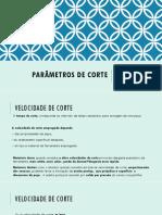 5. Parâmetros de Corte_Eliana