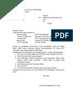 Surat Permohonan 9jin Praktek Bidan