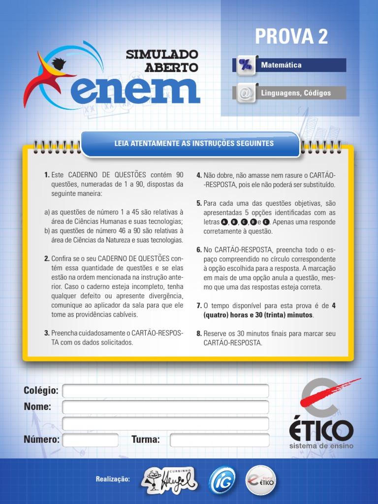 187a52b5034d2 Simulado Enem1301-Prova 2.Indd