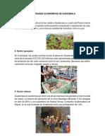 Actividades Económicas de Guatemala
