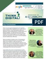 Key Conclusions - AI & Liability - June 20, 2018