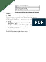 Informe de Operaciones - Semana 1 y 2